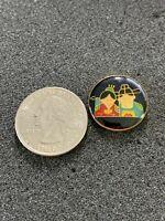 Native Americans Indian Boy & Girl VTG Travel Souvenir Pin Pinback #38572