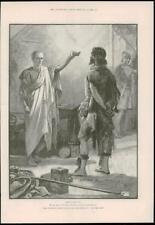 1890-ANTIQUE PRINT Fine Art Merveilleux Aventures Phra phénicien Paget (170)