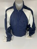 Vintage 90s Nike White Tag Track Jacket Mens XL Blue White Colorblock Zip Up