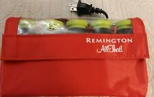 Remington Ceramic Hot Rollers Curlers Red Compact Travel Case H-1015