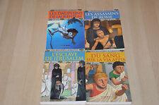 lot 4 livres Les Mystères Romains tomes 1 2 3 4 - Milan poche Histoire
