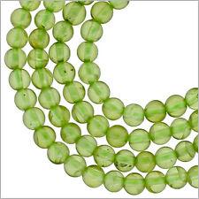 Natual Peridot Round Beads ap. 4mm #85438