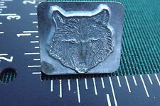 "Leather Tools/*Vtg* Craftool Co Usa 1"" Stamp * #8459 * Wolf Head * az99"