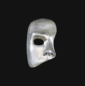 Maschera Di Venezia Fantasma De L'Opera Argentato Autentica Carta Mache 269