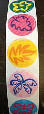 100 Tropical Luau Beach  Flowers Hibiscus Stickers Teacher Supply  Party Favors