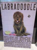 """LABRADOODLE DOG 12""""X 8"""" METAL SIGN  WITH CHARACTER DESCRIPTIONS 30X20cm/ dogs"""
