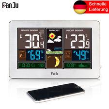 FanJu FJ3378S Funk Wetterstation mit Farbdisplay/Außensensor/DCF-Empfangssignal
