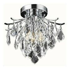 "Living District Amelia Flush Mount, Chrome, 12"" - LD8100F12C"