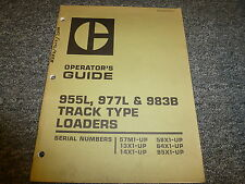 Caterpillar Cat 955L 977L 983B Track Type Loader Owner Operator Manual Book