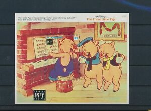 LO44298 St Vincent the Three Little Pigs dinosaurs good sheet MNH