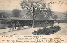 1906 Railway Station Pleasantville NY post card Westchester County