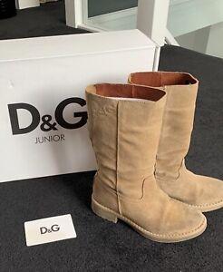 Stunning D&g Girls Boots Size 28/UK10