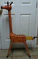 Handmade Giraffe Coat Rack With Drawer