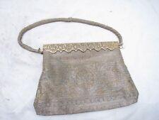 Vintage Langlois & Jargeais Metal Beaded Purse Ornate France Steel/Brass Bead