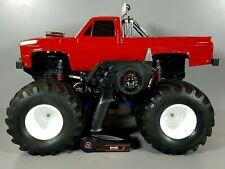 Custom Tamiya RC 1/10 Super Clodbuster Front Wheel Steering ESC + aluminum parts