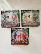Mighty Morphin Power Rangers Lot- Wolf, Yellow, Black Ranger with Megazords