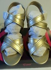 """Women's Size 7 Champagne """"FIONI"""" Wedge Sandals"""