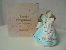 Applause Josef Originals Baby's Christening Doll Figurine Angel Blue Newborn