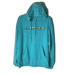Oakley Men's Women's Unisex Hoodie Sweatshirt Size Medium Hooded Blue Yellow