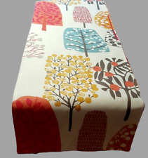 "NEW 36"" 48"" 54"" 64"" Table Runner  Spice Tree Blossom Print Handmade"