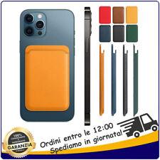 Magsafe Portacarte Portafoglio Magnetico per Apple iPhone 12, Pro, Pro MAX, Mini