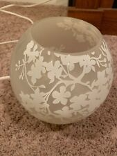 Floral Bowl Lamp Glass Hand Made Glass Ikea