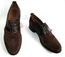 JB RAUTUREAU Zapatos cordones cuero ante & pitón 42 > 43 EXCELENTE ESTADO