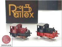 Z Spur 1:220 Railex 2x Kö ohne Motor Lokomotive Sammlung without engine/motor <