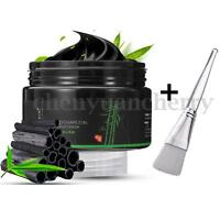 Peel Off Blackhead Face Mask Remover Cleaner Bamboo Charcoal Black Mask + Brush