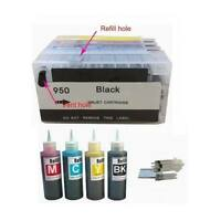4PK Refillable ink kit cartridge for HP 950 951 Officejet Pro 8100 8620 8610