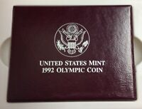 1992 U.S. Mint U.S. Olympic Commemorative Silver Dollar - UNC