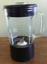 KITCHEN AID Replacement Glass Blender Pitcher 40 oz, 5 Cup, Black & white