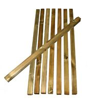10 x WOODEN DECKING SPINDLES 41mm x 41mm x 900mm QUALITY GARDEN WOOD SPINDLE