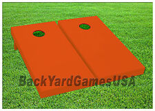 Orange Cornhole Boards Custom BEANBAG TOSS GAME w Bags or Choose your COLOR
