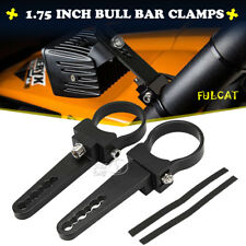 """2x 1.75"""" Bull Bar Clamps Mounting Brackets For Fog Lamp Driving Light Roll Cage"""