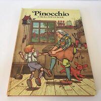 PINOCCHIO Vintage Troll Pop-Up Book Children's Storybook Hardcover Disney Story