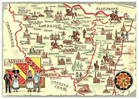 France French Country Map Postcard