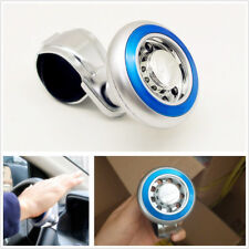 1*Blue Car Quick Steer Wheel Ball Suicide Knob Power Spinner ABS+Stainless Steel