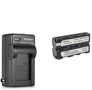 2900mAh NP570/550 Battery + Charger ForDCRVX2100, HDRFX1,HD1000U,HVRZ1U,5U,FS100