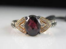 LeVian Garnet Diamond Ring 14K Strawberry Rose Gold Raspberry Pink NEW $1199