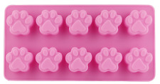 10 Paw Silicone Base Chocolate Cookie Mould Baking Ice Cube Jelly Cake Cat Dog