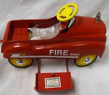 XONEX 1:3 SCALE HOOK AND LADDER FIRE TRUCK PEDAL CAR DIE CAST W BOX AND COA