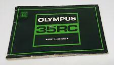 Olympus 35RC instruction manual - genuine original camera guide