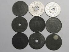 9 Vintage Sales Tax Tokens.  #24