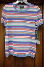 NWT Ralph Lauren Multi Stripe Short Sleeves Top Size S