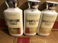 BATH & BODY WORKS Champagne Toast Body Lotion - Lot of 3
