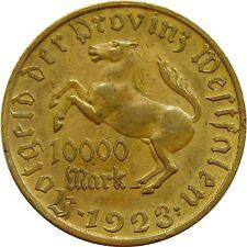 x063 GERMANY 10000 MARK 1923 WESTFALIA NOTGELD DEUTSCHES REICH
