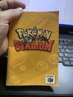Pokemon Stadium N64 Nintendo Instruction Manual Only - Good