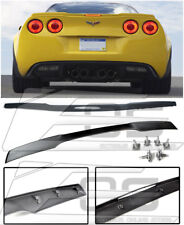 For 05-13 Corvette C6 ZR1 Style ABS Plastic Black Rear Trunk Spoiler W/ Hardware