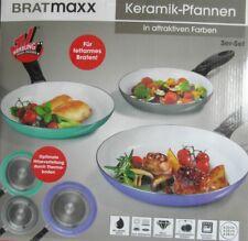 Bratmaxx Keramik-Pfanne Aluminium 3-tlg. in Grau/Lavendel/Mint